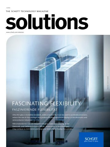 "Technology Magazine ""SCHOTT solutions"" Edition 1/2016"