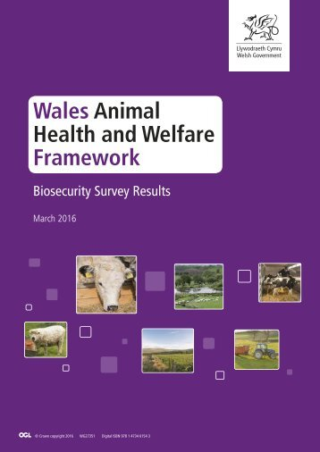 Wales Animal Health and Welfare Framework