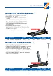 Hydraulischer Rangierwagenheber 2 t Hydraulischer - Technolit