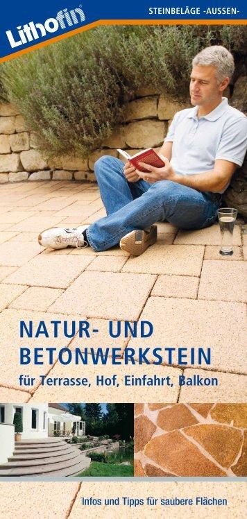 Reinigungsmittel für Naturstein im Garten und Außenbereich