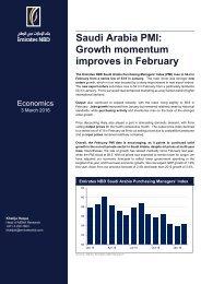 Saudi Arabia PMI Growth momentum improves in February
