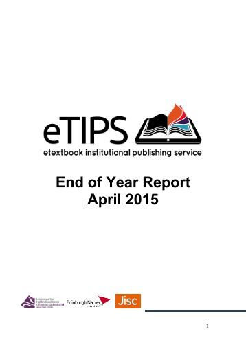 End of Year Report April 2015