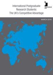 International Postgraduate Research Students The UK's Competitive Advantage