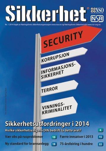 Sikkerhet nr. 1 / 2014