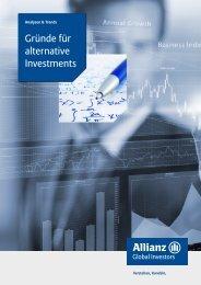 Gründe für alternative Investments