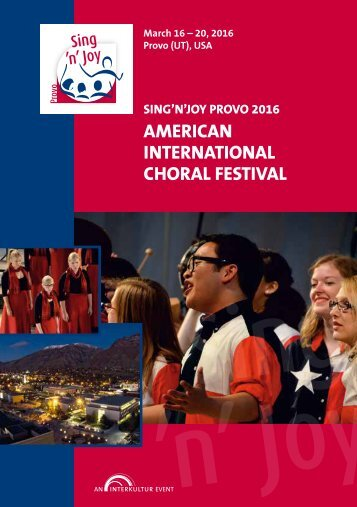 Sing'n'Joy Provo 2016 - Program Book
