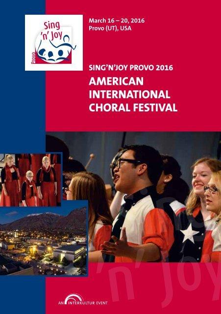 Sing'n'Joy Provo 2016 - Program Book