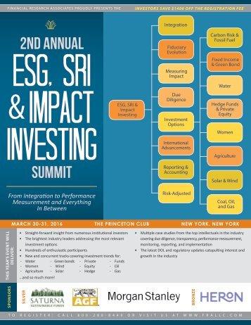 ESG SRI Impact Investing
