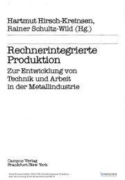 Hartmut Hlrsch-Kreinsen, Rainer Schultz-Wild - ISF München