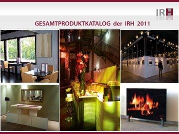 GESAMTPRODUKTKATALOG der IRH 2011 - Wien-konkret
