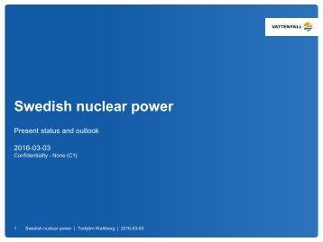 Swedish nuclear power