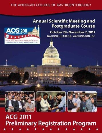 acg 2011 Preliminary Registration Program - ACG - American ...
