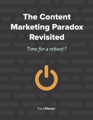 The Content Marketing Paradox Revisited