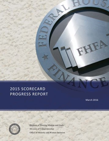 2015 SCORECARD PROGRESS REPORT