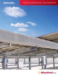 Mechanical Steel Tubing — Solar Applications