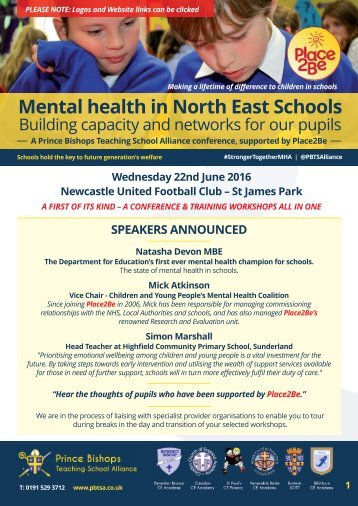 Mental health in North East Schools