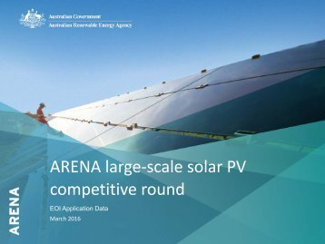 ARENA large-scale solar PV competitive round