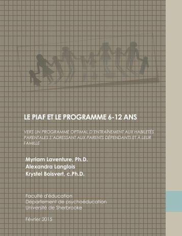 LE PIAF ET LE PROGRAMME 6-12 ANS