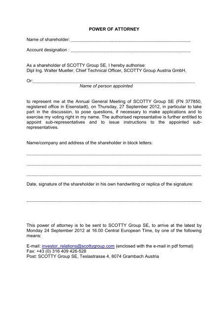 proxy form shareholders AGM 27 9 2012