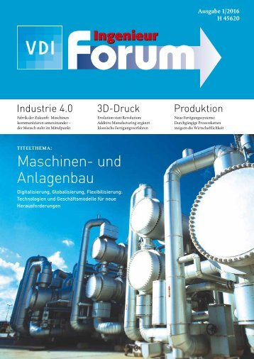 VDI Ingenieur forum 1_2016