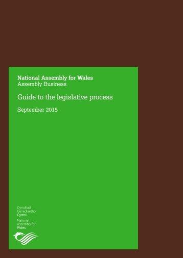 Guide to the legislative process