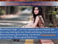 Cherry professional dating service in Chennai