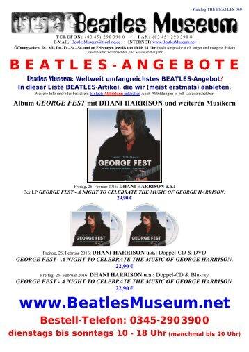 Beatles Museum - Katalog 60 mit Hyperlinks