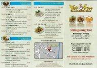Speisekarte Mittag