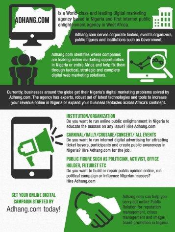 Online digital marketing campaigns agency Lagos