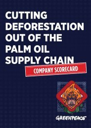 CUTTING DEFORESTATION OUT OF THE PALM OIL SUPPLY CHAIN