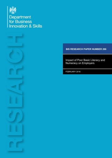 Impact of Poor Basic Literacy and Numeracy on Employers
