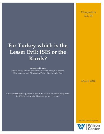 Lesser Evil ISIS or the Kurds?