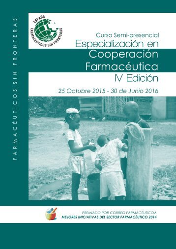 Especialización en Cooperación Farmacéutica IV Edición