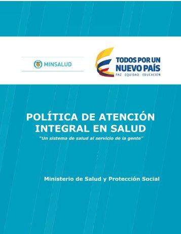 POLÍTICA DE ATENCIÓN INTEGRAL EN SALUD