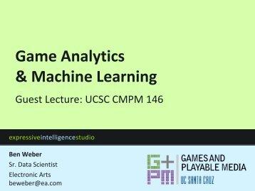 Game Analytics & Machine Learning