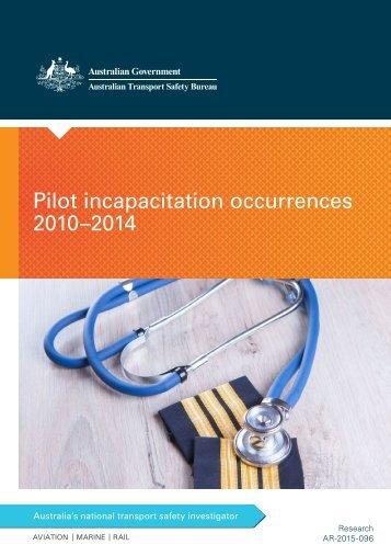 Pilot incapacitation occurrences 2010–2014