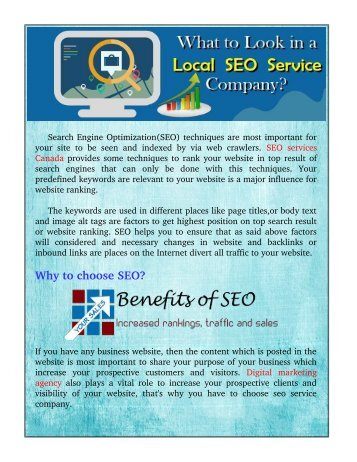 What To Look In Local SEO Service Company