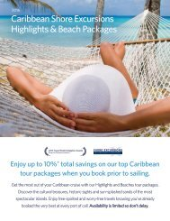 Caribbean Shore Excursions Highlights & Beach Packages