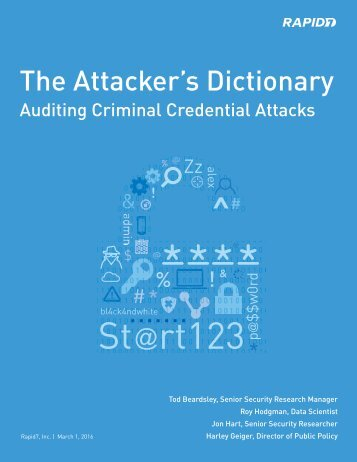 The Attacker's Dictionary