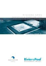 Riviera Pool Preisliste Spas 2016