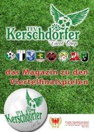 TFV Kerschdorfer Tirol Cup Viertelfinal Magazin 2016