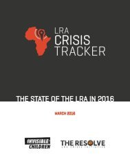 THE STATE OF THE LRA IN 2016