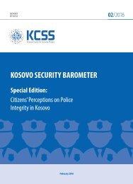 KOSOVO SECURITY BAROMETER