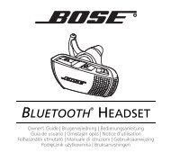 BLUETOOTH® HEADSET - Bose
