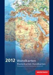 Wandkarten Geographie – Deutschland - Westermann