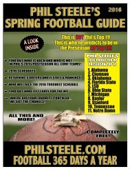 PHIL STEELE'S SPRING FOOTBALL GUIDE PHILSTEELE.COM FOOTBALL 365 DAYS A YEAR