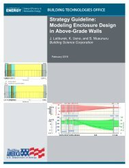 Strategy Guideline Modeling Enclosure Design in Above-Grade Walls