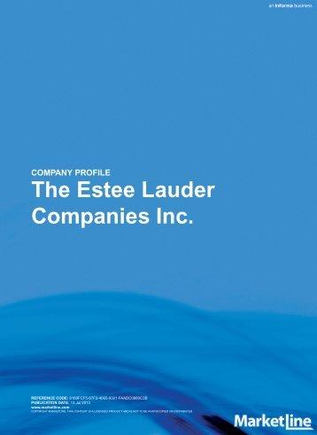 COMPANY PROFILE The Estee Lauder Companies  Inc. - Alacra Store