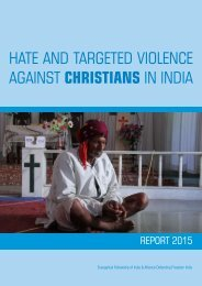 AGAINST CHRISTIANS IN INDIA