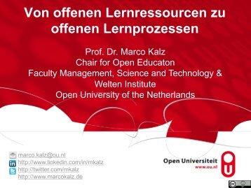 Von offenen Lernressourcen zu offenen Lernprozessen
